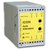 Автосекретарь ICON AA456M (6 линий, 2 часа записи, 15 почтовых ящиков, COM порт)