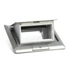Люк на 3 поста (45х45), металл, серебро, с пластиковой коробкой, IP40