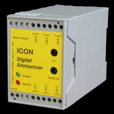 Автоинформатор ICON AN303, многоканальный (3 линии подключения, 30 минут записи)