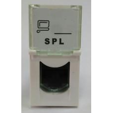 Розетка информационная UTP 1хRG45 22,5х45 cat5e