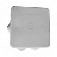 Коробка ответвительная с кабельными вводами, (7 вводов) 80х80х40, IP54
