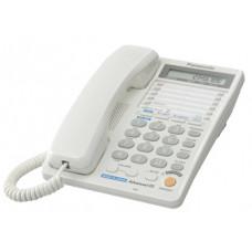 Проводной телефон KX-TS2368RU, ЖКД, спикерфон, белый