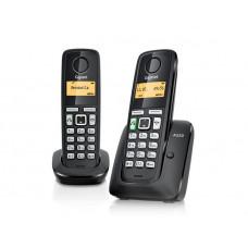 Радиотелефон DECT Gigaset A220 DUO, черный