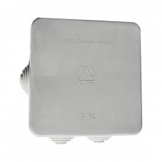 Коробка ответвительная с кабельными вводами, (6 вводов) 100х100х50, IP54